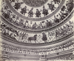 Interior of the dome of Swami Narayan's temple [Junagadh] 2654